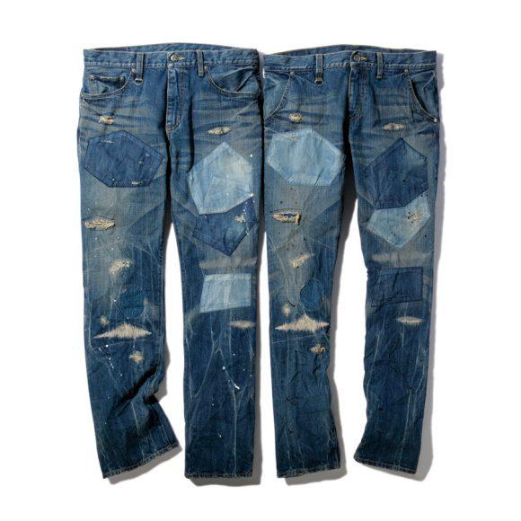 Заплатки из денима на мужских джинсах