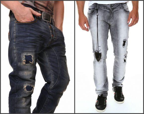 Заплатки на мужских джинсах
