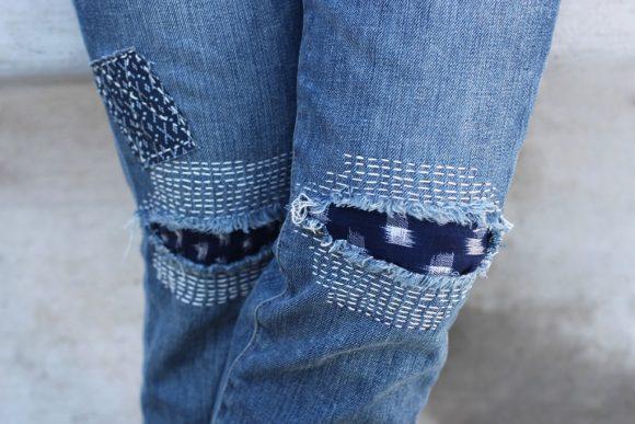 Дырявые джинсы с подкладкой