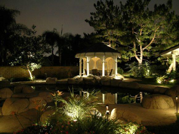 Освещение садовой беседки