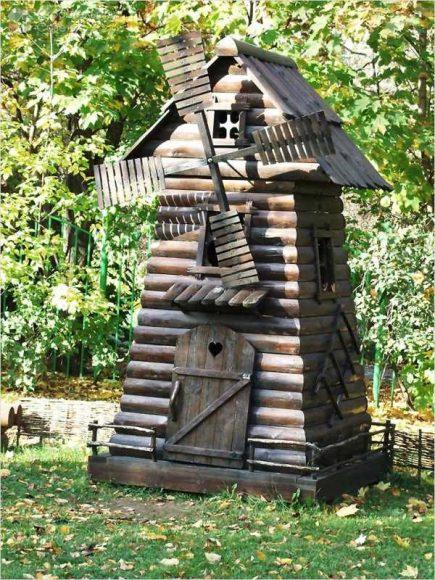 Декоративная мельница в старинном стиле