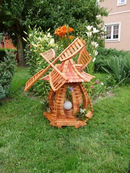 Декоративная мельница-светильник