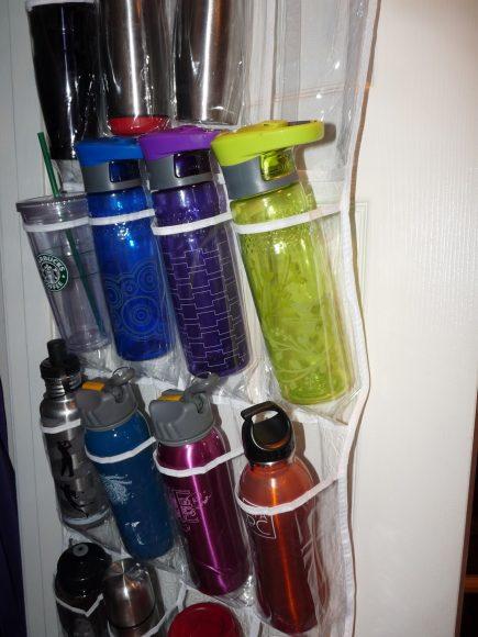 Хранение бутылок в органайзере