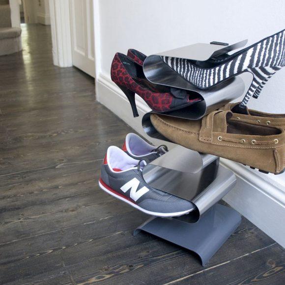 Полка вертикальная напольная для обуви