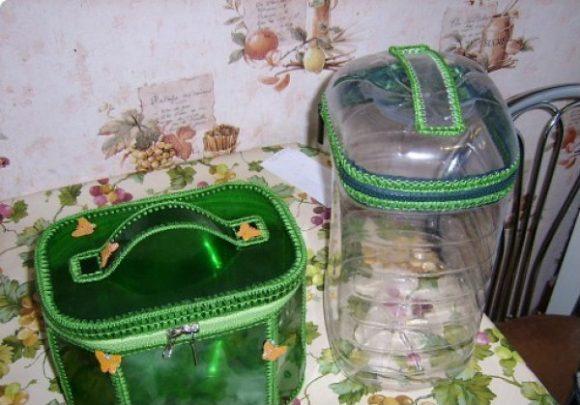 Косметички из пятилитровых пластиковых бутылок