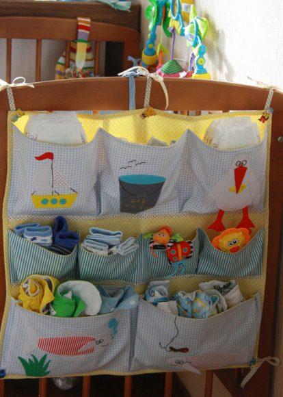 Органайзер на детскую кроватку с рисунками