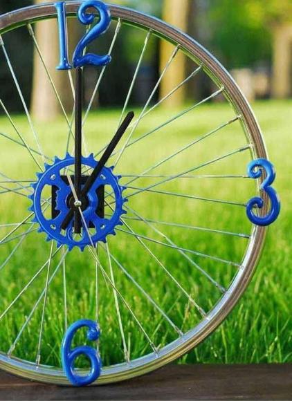 Циферблат из велосипедного колеса