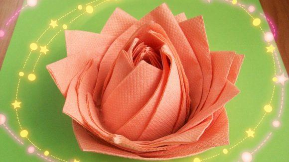Салфетки в виде цветка