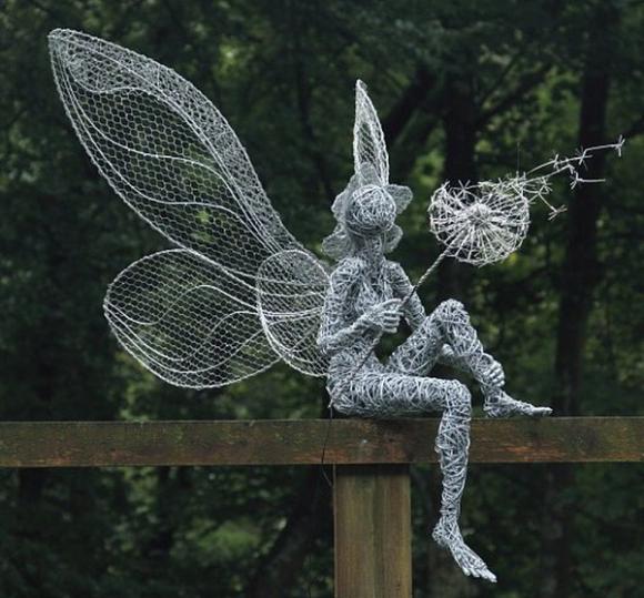 Скульптура из металлической проволоки