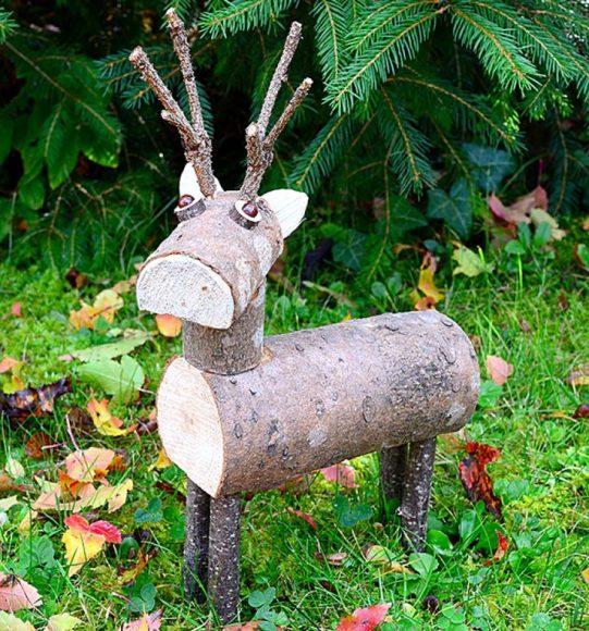 Самодельная деревянная скульптурка