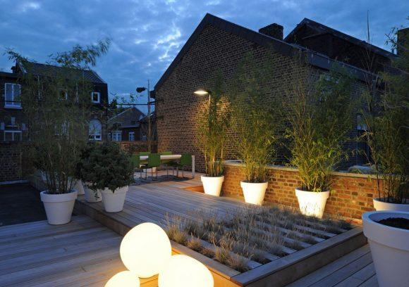 крыша с растениями