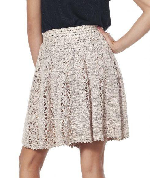 Вязаная юбка цвета экрю