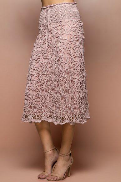 вязаная юбка из мотивов