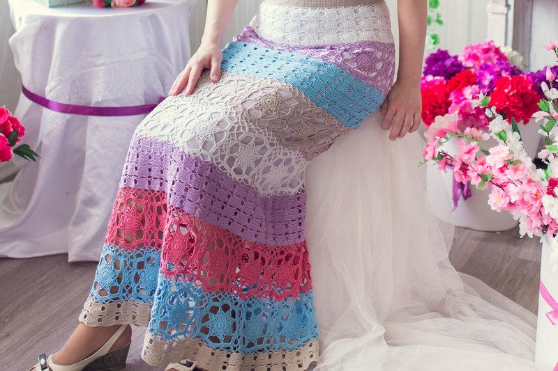Вязанные крючком юбки: модно и красиво! 20 фото для вдохновения