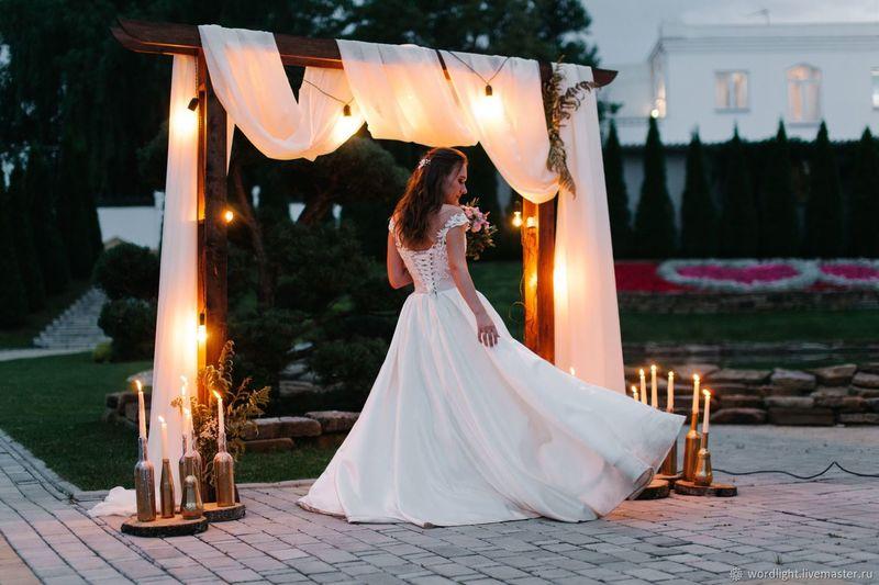 Эффектные свадебные арки своими руками в разных стилях: подборка фото