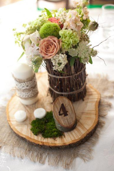 Свадебный декор в эко-стиле