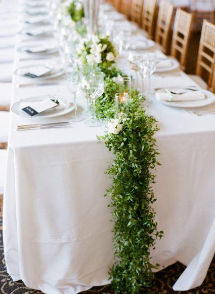 Украшения для свадебного стола в эко-стиле