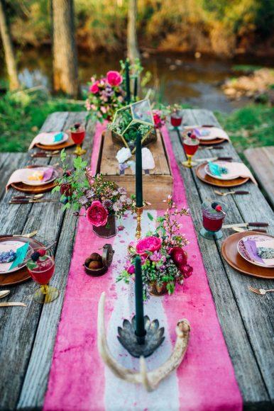 Свадебный стол в стиле бохо