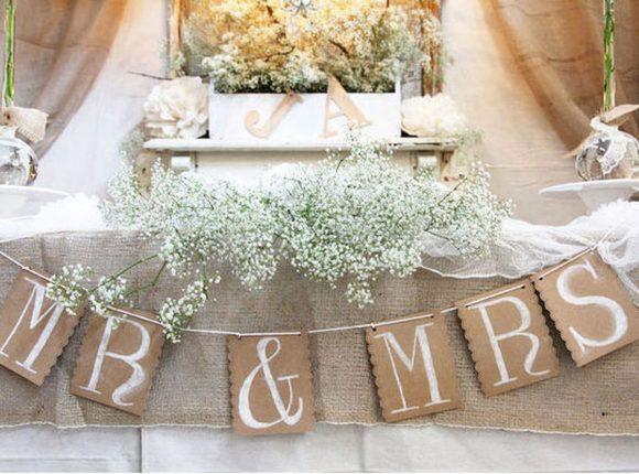 Герлянда для свадьбы в стиле кантри