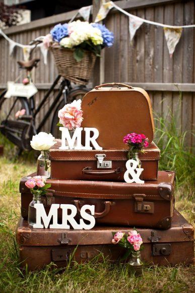 Украшения для свадьбы в стиле ретро