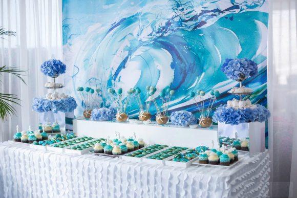 Свадебные украшения в морском стиле