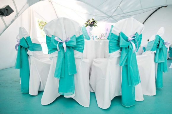 Свадебные украшения в стиле Тиффани