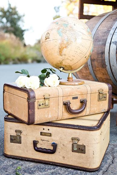 Свадебные украшения в стиле путешествий