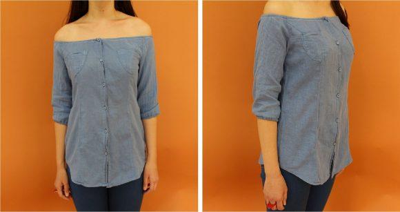 Блузка из мужской рубашки
