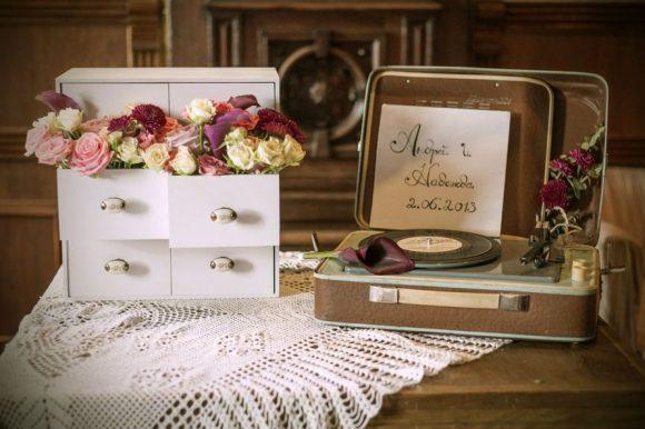 ретро-свадьба декор