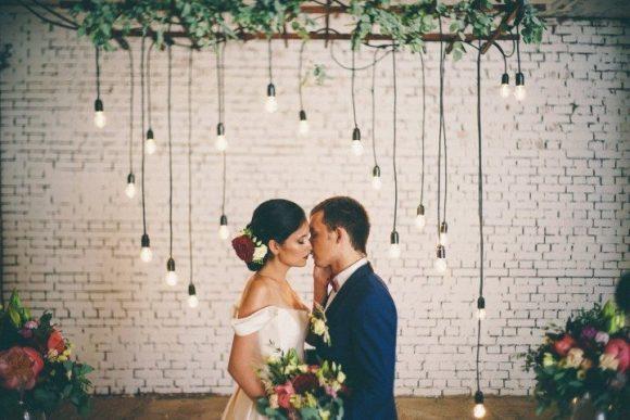 современная свадьба декор