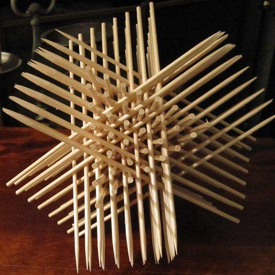 Декоративная 3D фигура из палочек для суши