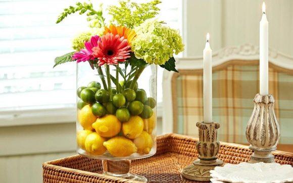 Фрукты в вазе декор