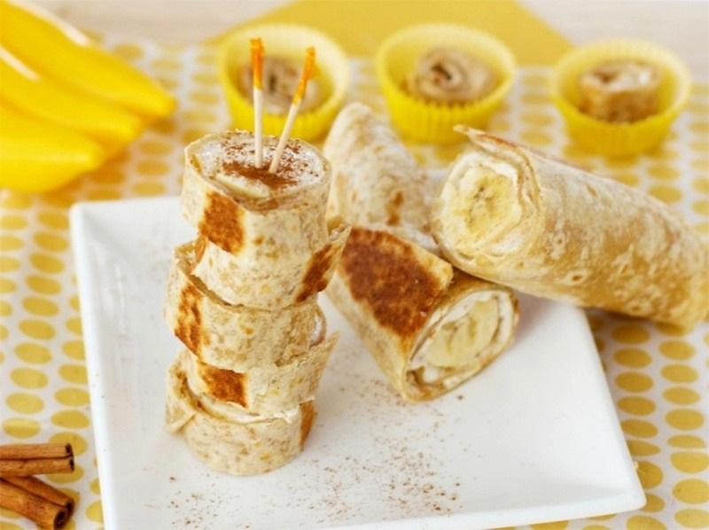 Банановые роллы с вареной сгущенкой