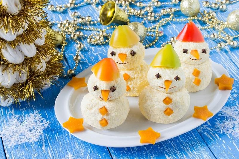 Сырные снеговики