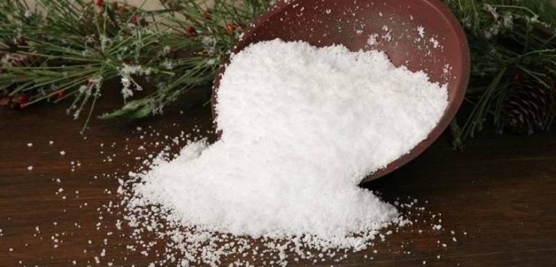 Из чего сделать искусственный снег для поделок: 7 простых идей