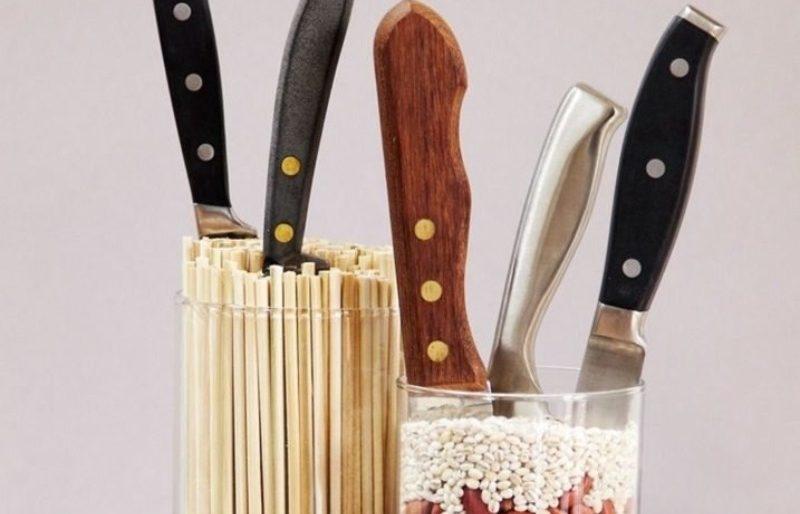 15 минут и готово: 3 оригинальные подставки для ножей