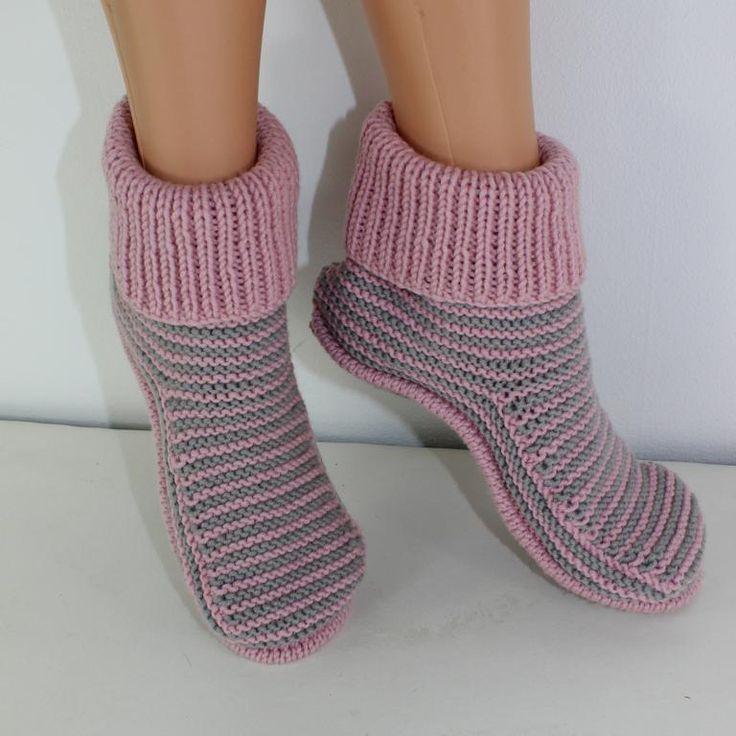 Носки-тапочки – как связать быстро и красиво